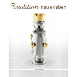 exklusiver Edelstahl Räuchermann - Der König