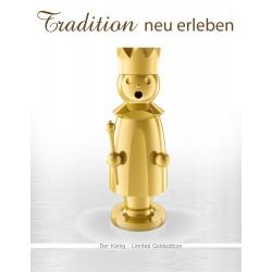 Exklusiver Räuchermann aus dem Erzgebirge - Der König - Limited Gold Edition