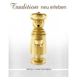 Exklusiver Räuchermann aus dem Erzgebirge - MELCHIOR- Limited Gold Edition