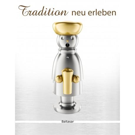 exklusiver Edelstahl Räuchermann - Balthasar