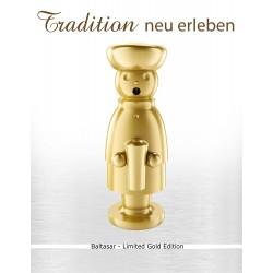 Exklusiver Räuchermann aus dem Erzgebirge -BALTHASAR- Limited Gold Edition