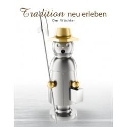 Erzgebirgischer Räuchermann aus Edelstahl - Der Wächter