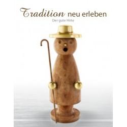 Erzgebirgischer Räuchermann aus Stahl -Der gute Hirte – Patina (Rat-Look)
